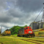 Work Horse Trains 7 Madison Georgia Locomotive Art Art Print