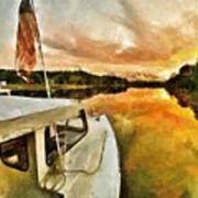 Workboats On San Damingo Creek Art Print
