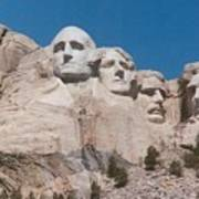 Workers On Mt. Rushmore Art Print