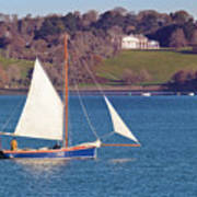 Working Boat At Trelissick Cornwall Art Print