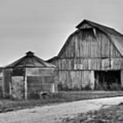Working Farm Barn And Storage Bin Art Print