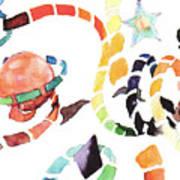 World And Stars Art Print