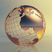 World Global Business Background Art Print