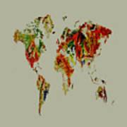 World Map 02a Art Print