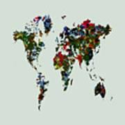 World Map 12b Art Print