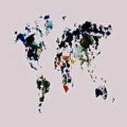World Map 14b Art Print