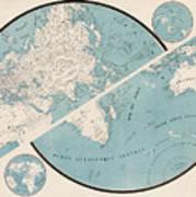 World Map - 1857 Art Print