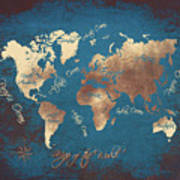 World Map 2065 Art Print