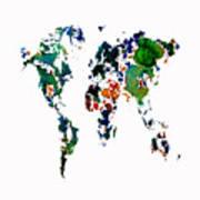 World Map 8b Art Print
