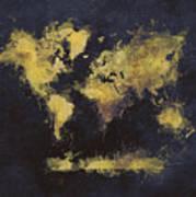 World Map Art 65 Art Print
