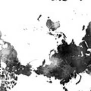 World map black and white digital art by marlene watson world map black and white poster gumiabroncs Gallery