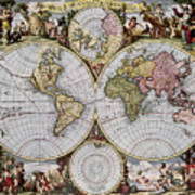 World Map, C1690 Art Print