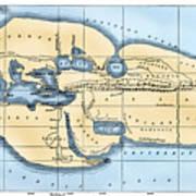World Map: Eratosthenes Art Print