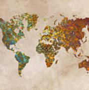 World Map Oriental Art Print