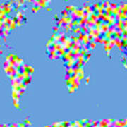 World Map Palette Art Print