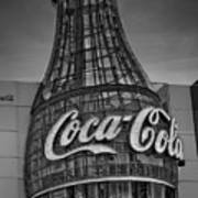 World Of Coca Cola Bw Art Print