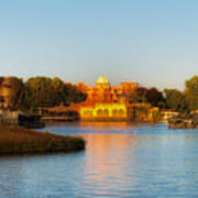World Showcase Lagoon Before The Show Walt Disney World Art Print