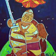 World Turtle King Of Swords Art Print