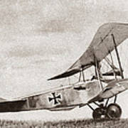 World War I: German Biplane Art Print