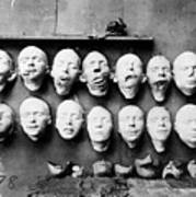 World War I Masks, 1918 - To License For Professional Use Visit Granger.com Art Print