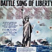 World War I: Song Sheet Art Print