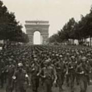 World War II. The Liberation Of Paris Art Print