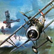 World War One Dogfight Art Print