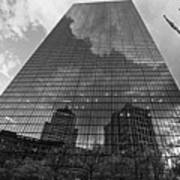 World's Largest Canvas John Hancock Tower Boston Ma Black And White Art Print