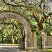 Wormsloe Gate Art Print