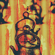 Worn And Weathered Kettles Art Print