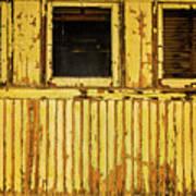 Worn Yellow Passanger Car Art Print