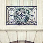 Wreath And Stone Art Print