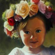 Wreath Of Roses Art Print
