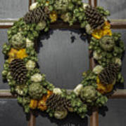 Williamsburg Wreath 21b Art Print