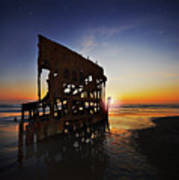 Wreck Of The Peter Iredale-b Art Print
