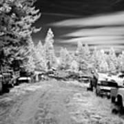 Wrecking Yard In Infrared 3 Art Print