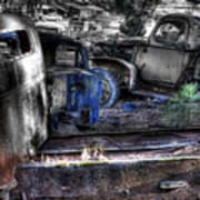 Wrecking Yard Study 12 Art Print