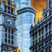 Wrigley Building And Trump Tower Dsc0540 Art Print