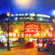 Wrigley Field Home Of Chicago Cubs Art Print