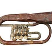 Wrinkled Old Trumpet Art Print