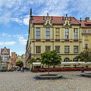 Wroclaw Market Square, New Town Hall And Tenement Houses Art Print