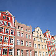 Wroclaw Old Town Houses Art Print