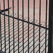 Wrought-iron Gate And Shadows Art Print
