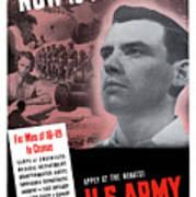 Ww2 Army Recruiting Poster Art Print