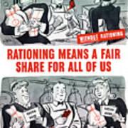 Ww2 Rationing Cartoon Art Print
