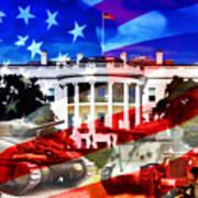 Ww2 Usa White House Art Print