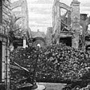 Wwi, Ruins Of Arras Cathedral Art Print