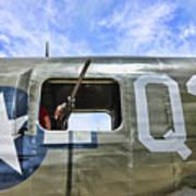 Wwii Aircraft Gun Window Art Print