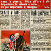 Wwii: Italian Newspaper Art Print