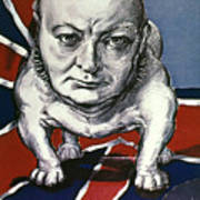 Wwii:churchill Poster 1942 Art Print